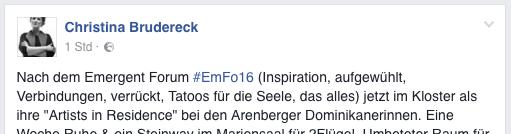 Christina Brudereck – Facebook